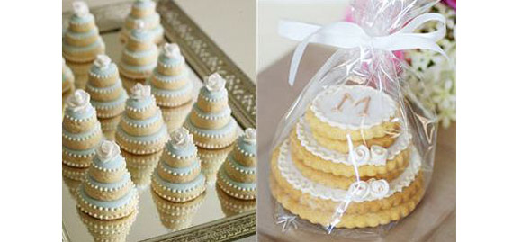 stacked wedding cake cookie favors como cortar cookies escola de bolo 20462