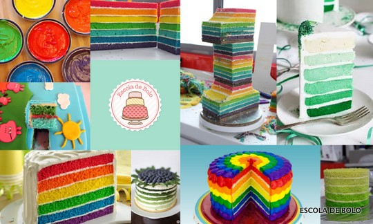 colored cakes