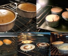 cake in the oven