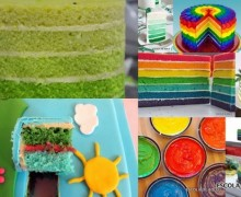 colored cakes blog