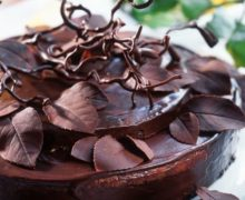 chocolate-cake-with-chocolate-leaves-625518